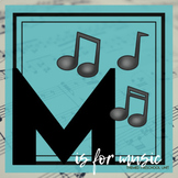 M is for Music Themed Unit-Preschool Lesson Plans  - Dista