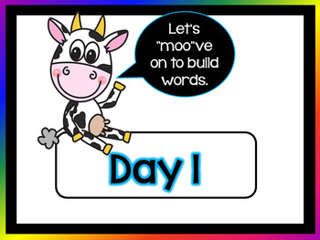 "M""oo""vin' through  Word Building  - Words with oo, ew, ui, ou, ue, u"