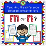 M or N? Teaching the difference between similar letters