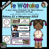 Maori Medium Daily Visual Timetable EDITABLE