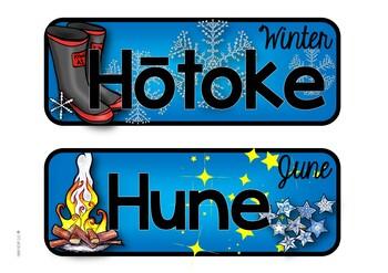 Maori Months & Seasons of the Year - Nga Marama o te Tau