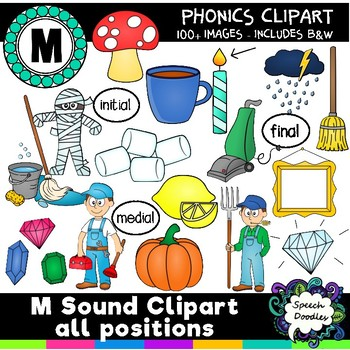 M sound clipart - Over 100 images! Articulation Clipart Phonetic Clipart
