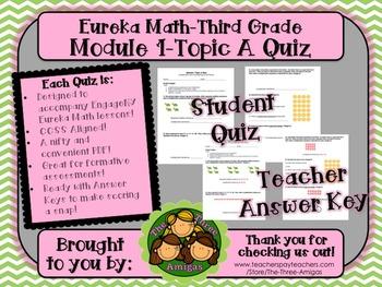 M1 Eureka Math - Topic A Quiz (Grade 3)