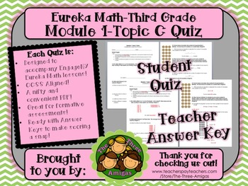 M1 Eureka Math - Topic C Quiz (Grade 3)