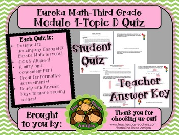 M1 Eureka Math - Topic D Quiz (Grade 3)