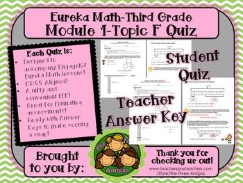 M1 Eureka Math - Topic F Quiz (Grade 3)