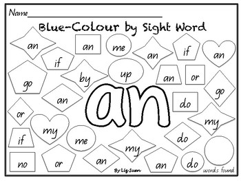 M100-Blue Colour by Sight Word