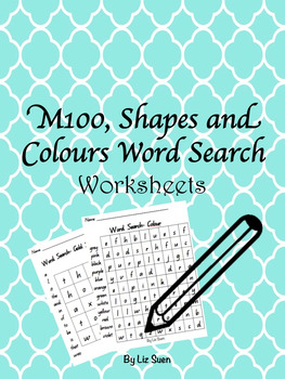 M100 Sight Words, Shapes and Colour Word Search