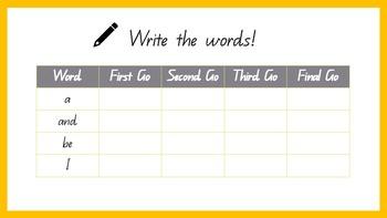 M100 Words Golden Words Activities