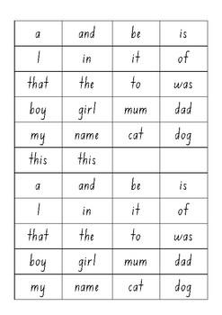 M100W Gold sight word bingo