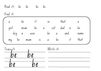 M100W Gold sight word find