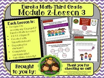 M2L03 Eureka Math-Third Grade: Module 2-Lesson 3 SmartBoard Lesson