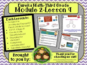M2L09 Eureka Math-Third Grade: Module 2-Lesson 9 SmartBoard Lesson