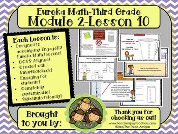 M2L10 Eureka Math-Third Grade: Module 2-Lesson 10 SmartBoard Lesson