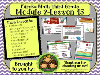 M2L15 Eureka Math-Third Grade: Module 2-Lesson 15 SmartBoard Lesson