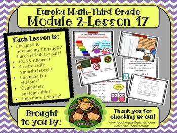 M2L17 Eureka Math-Third Grade: Module 2-Lesson 17 SmartBoard Lesson