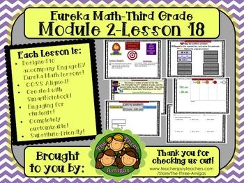 M2L18 Eureka Math-Third Grade: Module 2-Lesson 18 SmartBoard Lesson