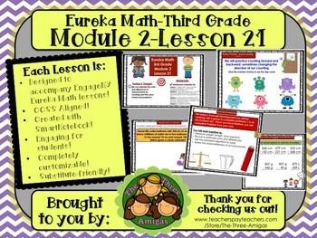M2L21 Eureka Math-Third Grade: Module 2-Lesson 21 SmartBoard Lesson