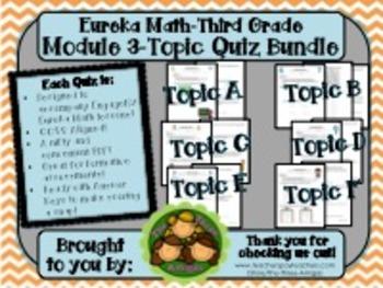 M3 Eureka Math - Topic Quiz Bundle (Grade 3)