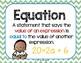 M3 Math Vocabulary Posters Bundle