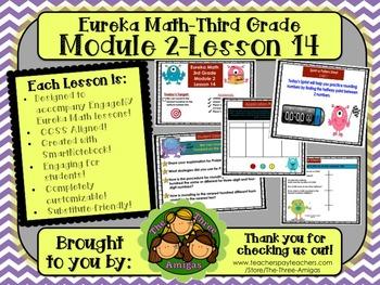 M2L14 Eureka Math-Third Grade: Module 3-Lesson 14 SmartBoard Lesson