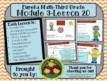 M3L20 Eureka Math-Third Grade: Module 3-Lesson 20 SmartBoard Lesson