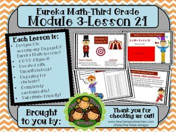 M3L21 Eureka Math-Third Grade: Module 3-Lesson 21 SmartBoard Lesson