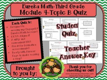M4 Eureka Math - Topic B Quiz (Grade 3)