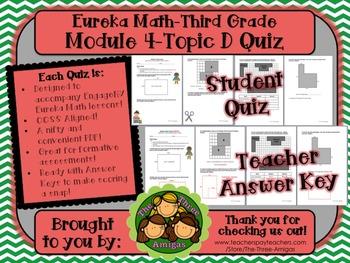 M4 Eureka Math - Topic D Quiz (Grade 3)