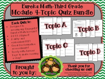 M4 Eureka Math - Topic Quiz Bundle (Grade 3)