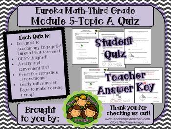 M5 Eureka Math - Topic A Quiz (Grade 3)
