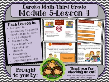 M5L04 Eureka Math - Third Grade: Module 5-Lesson 4 Smartboard Lesson