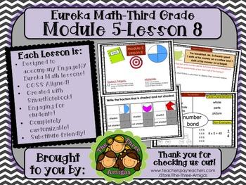M5L08 Eureka Math - Third Grade: Module 5-Lesson 8 Smartboard Lesson