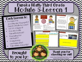 M5L01 Eureka Math - Third Grade: Module 5-Lesson 1 Smartboard Lesson