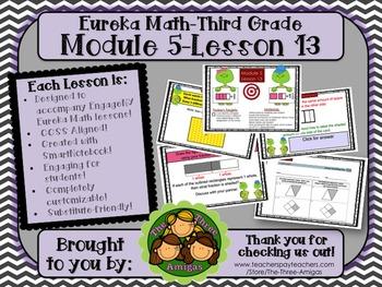 M5L13 Eureka Math - Third Grade: Module 5- Lesson 13 Smartboard Lesson