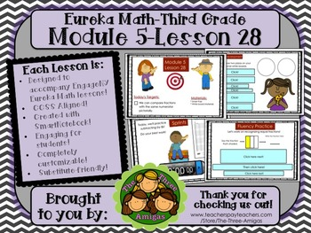 M5L28 Eureka Math - Third Grade: Module 5-Lesson 28 Smartboard Lesson