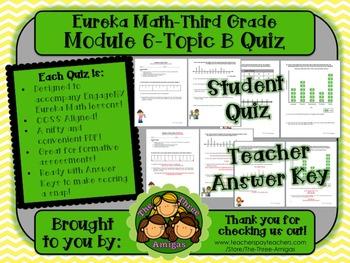 M6 Eureka Math - Topic B Quiz (Grade 3)
