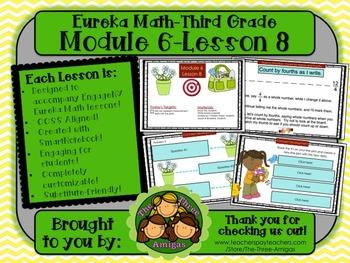 M6L08 Eureka Math - Third Grade: Module 6-Lesson 8 Smartboard Lesson