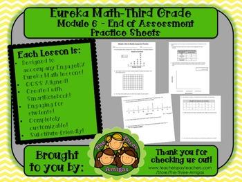 M6SG Eureka Math-Third Grade: Module 6 End-Module Assmt. Practice Worksheet