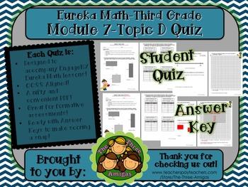 M7 Eureka Math - Topic Quiz D (Third Grade)