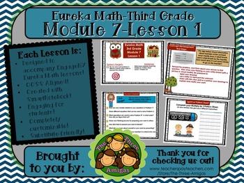 M7L01 Eureka Math-Third Grade: Module 7-Lesson 1 SmartBoard Lesson