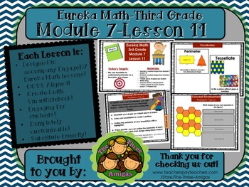 M7L11 Eureka Math-Third Grade: Module 7-Lesson 11 SmartBoard Lesson