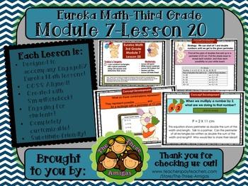 M7L20 Eureka Math-Third Grade: Module 7-Lesson 20 SmartBoard Lesson