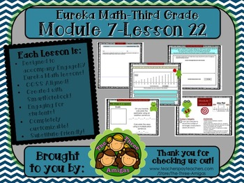 M7L22 Eureka Math-Third Grade: Module 7-Lesson 22 SmartBoard Lesson