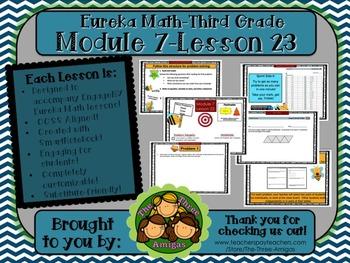 M7L23 Eureka Math-Third Grade: Module 7-Lesson 23 SmartBoard Lesson