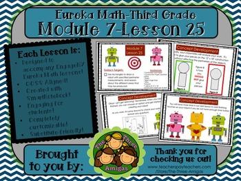 M7L25 Eureka Math-Third Grade: Module 7-Lesson 25 SmartBoard Lesson