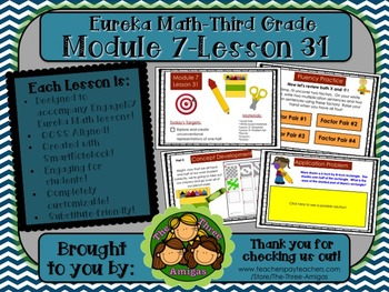 M7L31 Eureka Math-Third Grade: Module 7-Lesson 31 SmartBoard Lesson