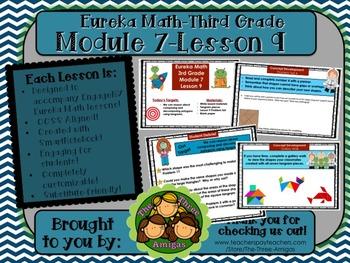 M7L9 Eureka Math-Third Grade: Module 7-Lesson 9 SmartBoard Lesson
