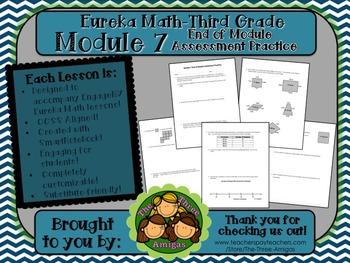 M7SG Eureka Math-Third Grade: Module 7 End-Module Assmt. Practice Worksheet
