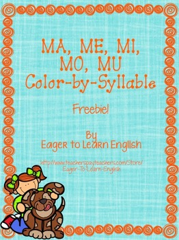 MA, ME, MI, MO, MU Color-by-Syllable FREEBIE